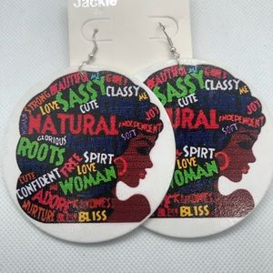 Jackie Jewelry - Words of Life, Statement Earrings